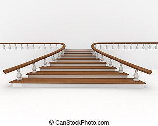 fondo., astratto, scale