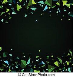 fondo., astratto, verde