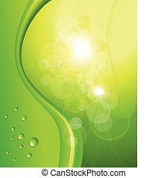 fondo, astratto, verde