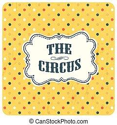 fondo., astratto, vettore, circo