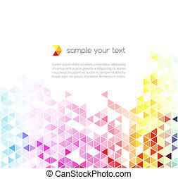 fondo., astratto, vettore, colorito, triangoli