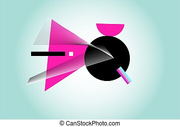 fondo, astratto, vettore, geometrico, variopinto