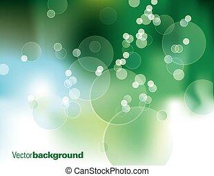 fondo., astratto, vettore, verde