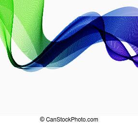 fondo., astratto, wave., colorito, spettro
