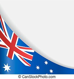 fondo., australiano, vettore, bandiera, illustration.