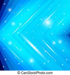 fondo azul, con, destello