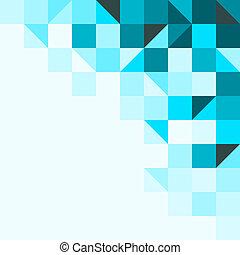 fondo azul, con, triángulos, y