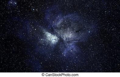 fondo azul, espacio