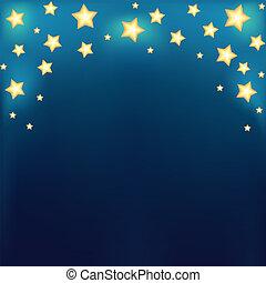 fondo, baluginante, cartone animato, stelle