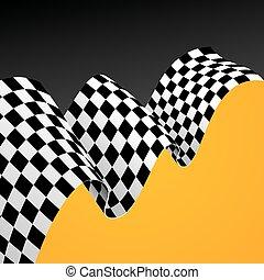 fondo., bandera, vector, carreras