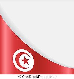 fondo., bandera, vector, tunecino, illustration.