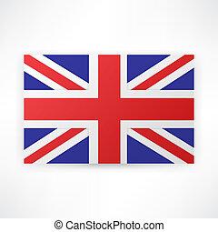 fondo., bandiera, londra