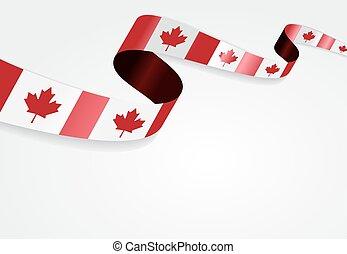 fondo., bandiera, vettore, illustration., canadese