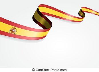 fondo., bandiera, vettore, illustration., spagnolo