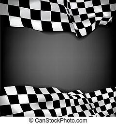 fondo, bandierina checkered