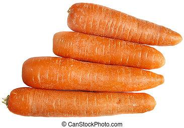 fondo., bianco, carote, isolato