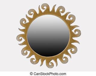 fondo, bianco, interpretazione, specchio, 3d, farfalle