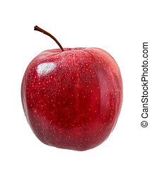 fondo., bianco, mela, maturo, isolato