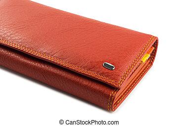fondo., bianco rosso, portafoglio
