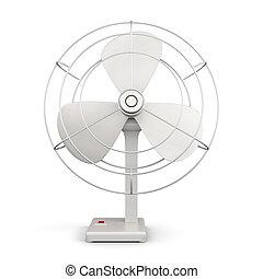 fondo., bianco, ventilatore, isolato, tavola