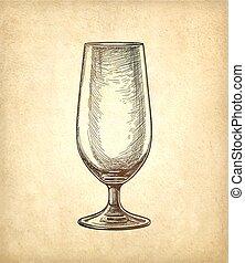 fondo., birra, carta, vecchio, vetro