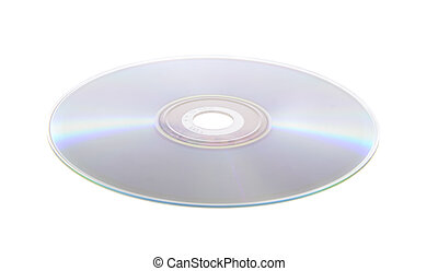 fondo blanco, aislado, dvd, cd