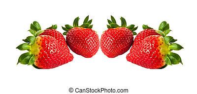 fondo., blanco, aislado, fresa