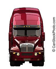 fondo., blanco, camión, semi