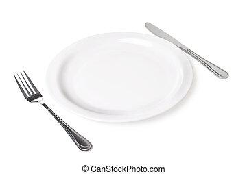 fondo., blanco, conjunto, objeto, cocina