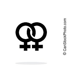 fondo., blanco, lesbiana, icono