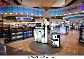 fondo blurry, de, el, stores.