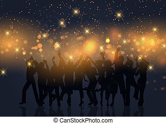 fondo, bokeh, luci, oro, festa, folla, 2804, stelle