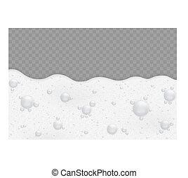 fondo, bolle, schiuma