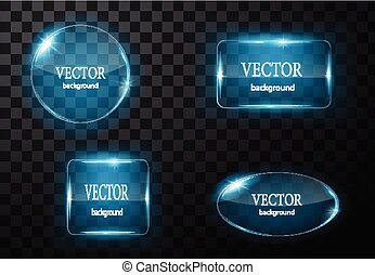 fondo, bottone, editable, vetro, vettore, facile, plane.