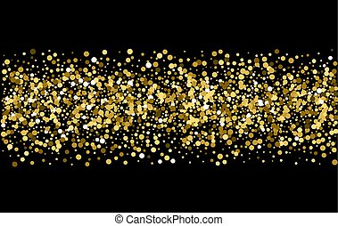 fondo., brillare, nero, oro, scintille