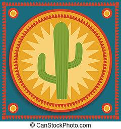 fondo, cactus, stilizzato