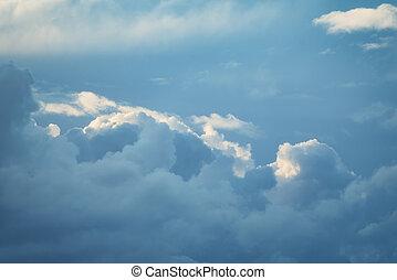 fondo., cielo, tormenta, ocaso, textura, nube