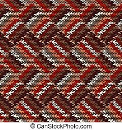 fondo., classico, lavorato maglia, bianco, maglieria, rosso, seamless, trendy, ornament., pattern., elegante, moda, marrone