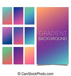 fondo., color, pantalla, moderno, app., vector, diseño, móvil, suave, gradients.
