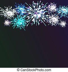 fondo., colore, firework, festivo