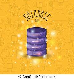 fondo, colorito, luminosità, colorare, modello, server, base, file, dati, icona