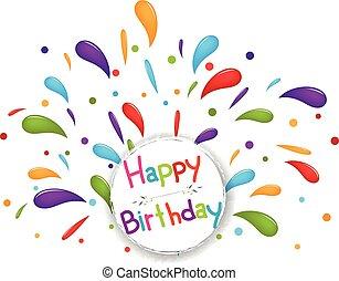 fondo, compleanno, celebrazione
