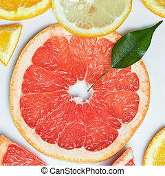 fondo, con, citrus-fruit