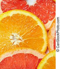 fondo, con, citrus-fruit, di, fresco, fette