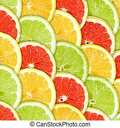 fondo, con, citrus-fruit, fette