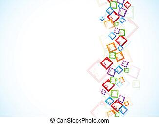 fondo, con, colorito, squadre