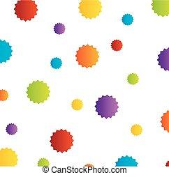 fondo, con, colorito, stelle