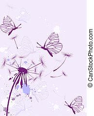 fondo, con, farfalle