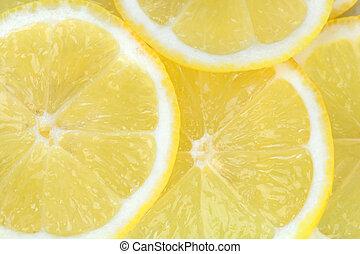 fondo, con, frutta agrume, di, fette limone