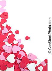 fondo, con, hearts., giorno valentine, o, matrimonio, fondo